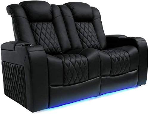 New Valencia Tuscany Top Grain Nappa Leather Power Reclining Power Lumbar Power Headrest Home Theater Seating Home Theater Seating Love Seat Power Recliners