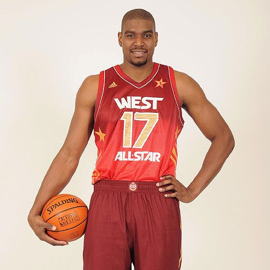 Andrew Bynum of the Lakers as one of the Western Starting All Stars (2012) (4/5 starters are from the L.A. teams)
