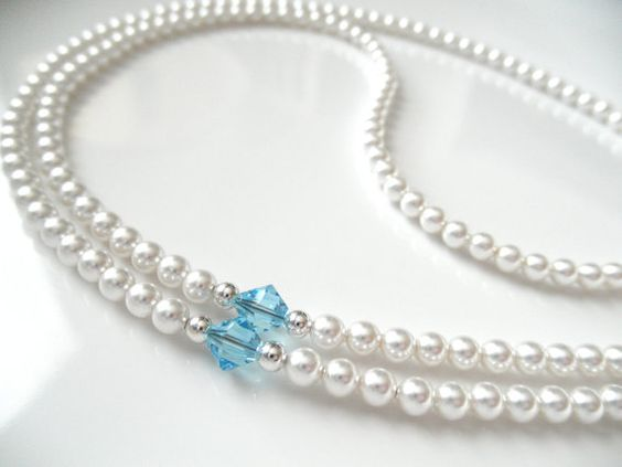 White Swarovski Pearl Eyeglass Chain with by BeaditudeBoutique
