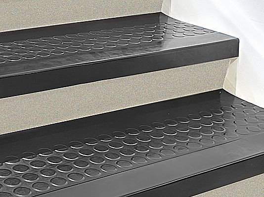 Indoor Stair Treads Rubber 48 X 12 H 3655 Uline Basement Stairs Garage Stairs Stair Treads