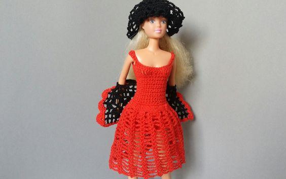 Barbie outfit #crochet #barbieclothes  Haljina/dress http://bit.ly/1T4mkoA  Šešir/hat http://bit.ly/1TEtAU6