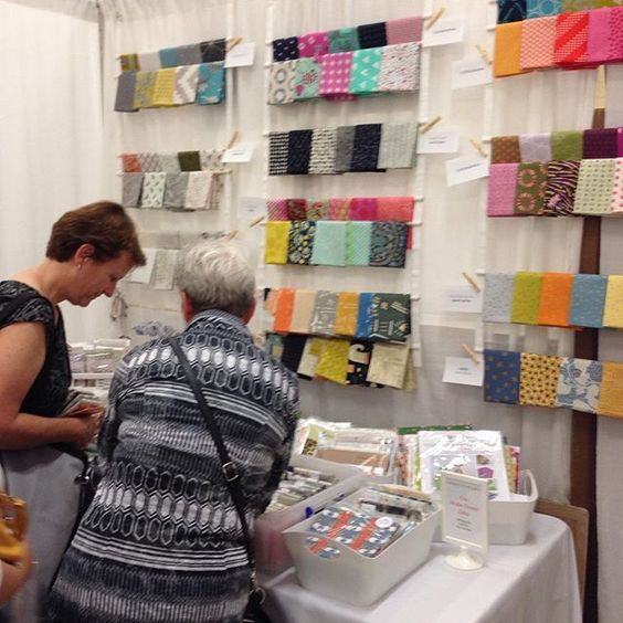 Great day @quiltx  Thanks everyone who came by to say hi. More #fabricinspiration tomorrow. Find our booth and come see all of the beautiful @jmaskoquilts quilts
