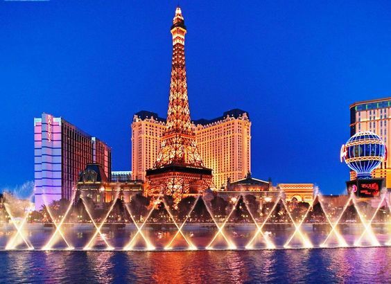 Eiffel Tower as Seen From the Bellagio Las Vegas