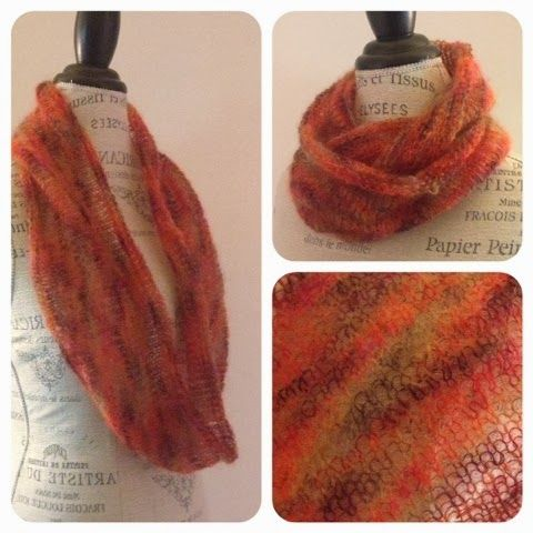 Infinity Scarf Knitting Pattern Mohair : Knitting blogs, Infinity scarfs and Free knitting on Pinterest