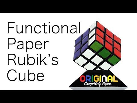 How To Build Paper Rubik S Cube Rubiks Cube Cube Paper