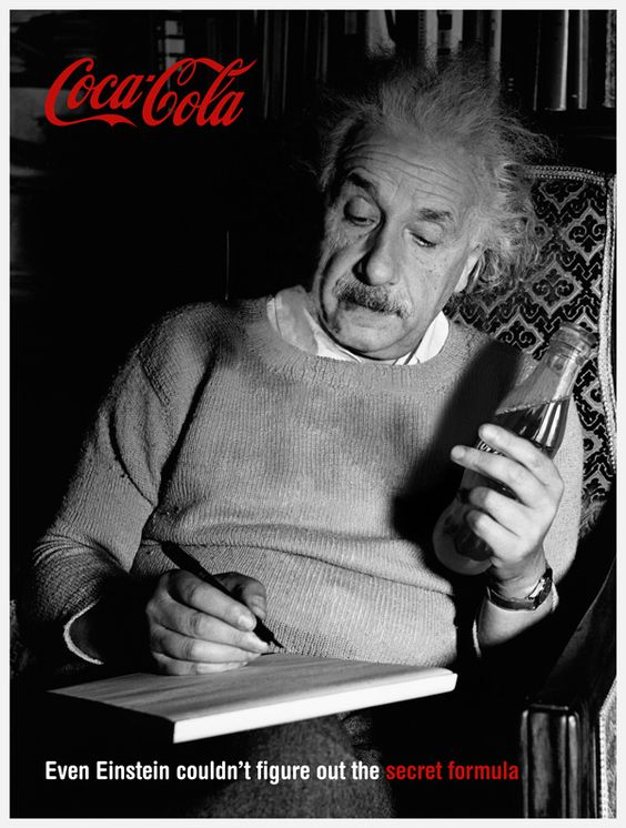 Image result for einstein and coca cola