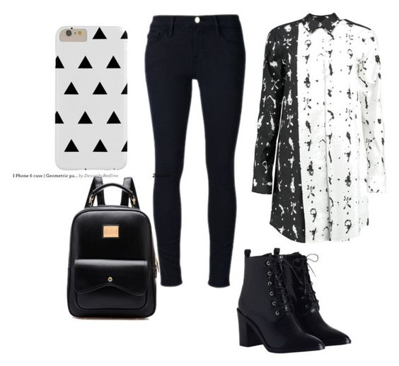 """""""Untitled #17"""" by karolaalberg on Polyvore featuring MM6 Maison Margiela, Frame Denim and Zimmermann"""