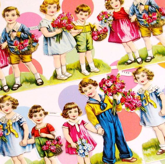 German Valentine's cards. My mother collected these, but lost them in the war.