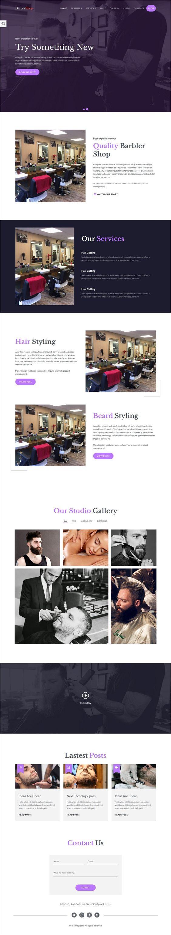 BarberShop Salon Spa u0026 Barber Website