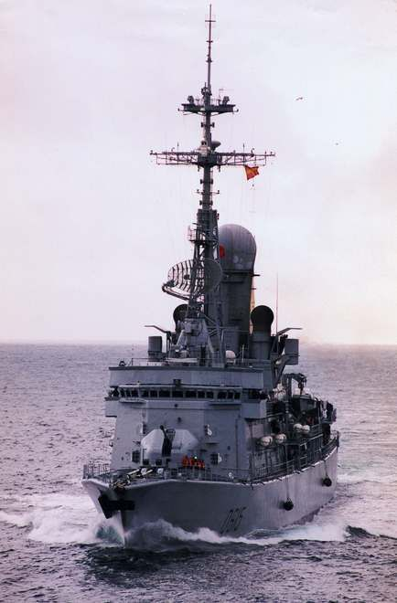 Frégate antiaérienne type F 70 AA Jean Bart. French Marine Nationale Type F70 Anti-Aircraft Frigate Jean Bart (D 615).
