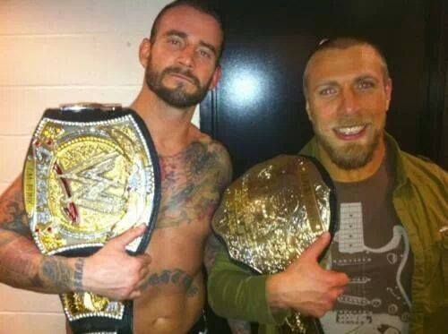 WWE Champion CM Punk and World Heavyweight Champion Daniel Bryan