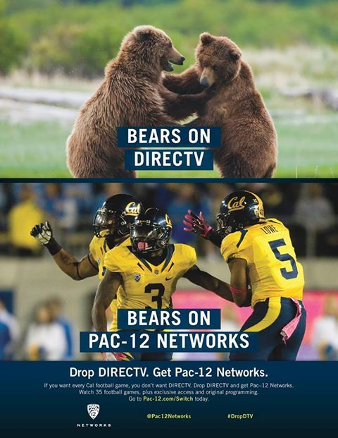 It's an easy decision, which kind of bears would you rather watch? Catch all the Cal action and drop DIRECTV and switch to Pac-12 Networks #GoBears