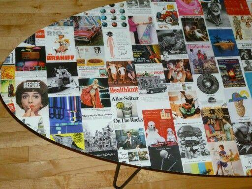 Vintage Ad Coffee Table