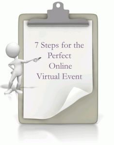 Following these 7 steps will ensure you have a successful online virtual event, let me know if I can be of service to you. 1. You have to choose the right technology