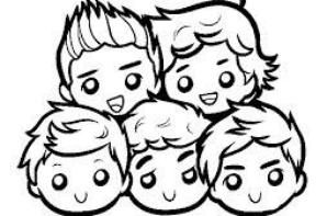 coloriage one direction