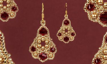 Belle Of the Ball Earrings - Free tutorial!