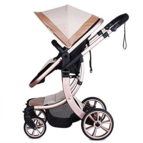 Wingoffly Luxury Newborn Baby Pram Infant Foldable Antishock High View Stroller Pushchairkhaki Check Out The Image By Visiting The Link