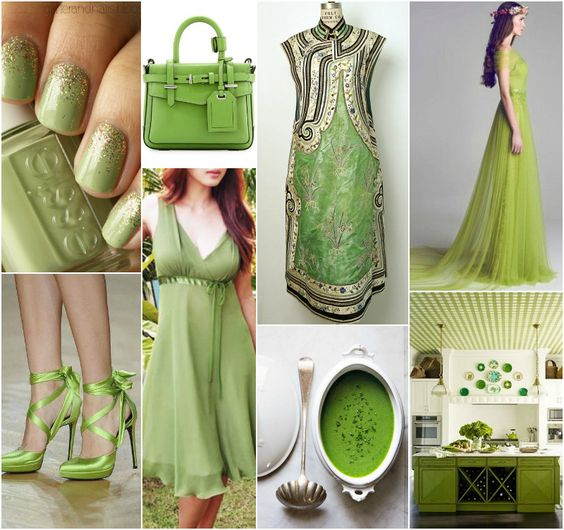 """Polish blogger Maria analyses shades of green right for each season type: PEA GREEN (a commonly used colour name in Polish, it describes a light muted yellowy green). """"For Light Spring, True Spring, True Autumn, Soft Autumn. Perhaps for Deep Autumn.""""  I would never wear this, but along with other yellow-greens, this is one of my top fave colours for home decor - most of the wall in our house are varieties of this shade."""