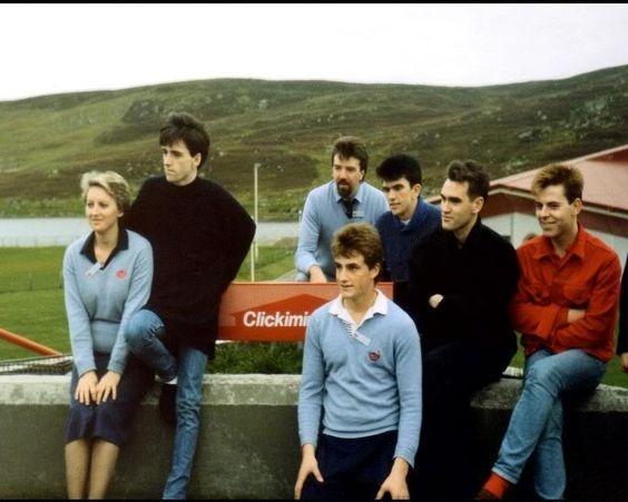 The Smiths at Clickimin Centre, Lerwick, Shetland Isles, Scotland (September 1985).