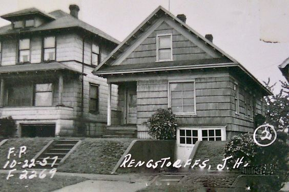 The year 1957 in seattle wa an old photo of our house Built in seattle