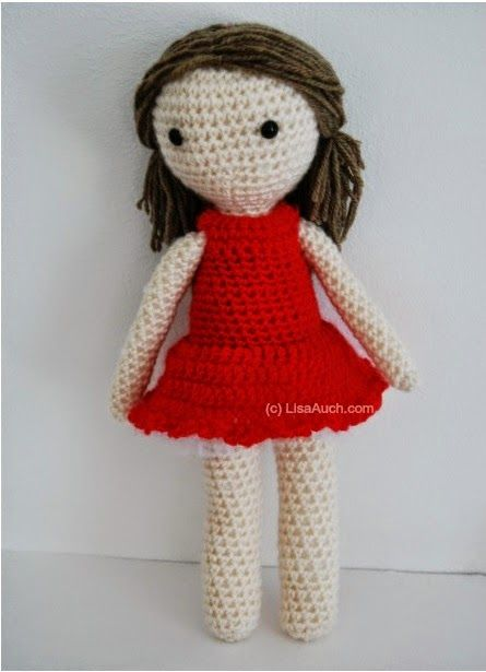 Free Crochet Patterns And Designs By Lisaauch : Patrones de munecas gratis, Munecas de bebes and Patrones ...