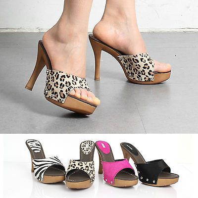Details about [HS 1497] Sexy Ladies Platform High Heels Mule ...