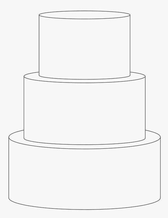 3 tier wedding cake outline cake templates templates and cakes on 10287