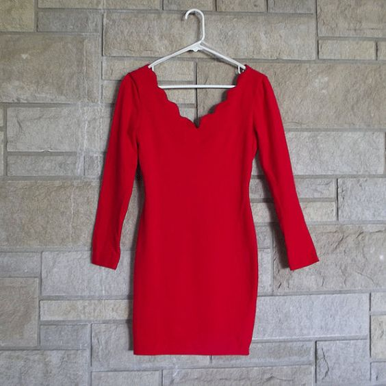 Vintage 90s Red Body Dress