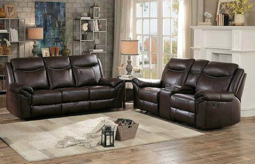 2 Pc Homelegance Aram Dark Brown Airehyde Match Reclining Sofa Loveseat Set 8206brw Sofa And Loveseat Set Leather Sofa And Loveseat Leather Reclining Sofa