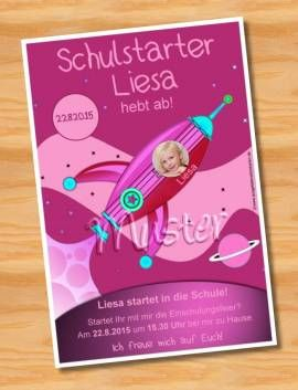 Einladungskarten Einschulung Schulanfang MUSTER 50 - Bild vergrößern