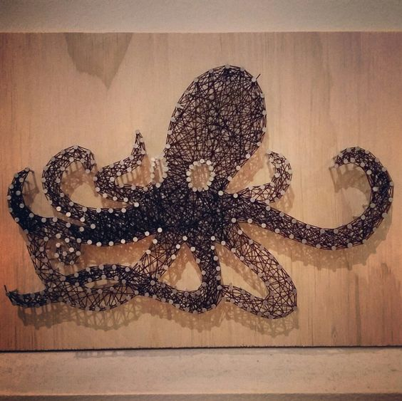 Nail And String Art: Octopus Nails, Nail String Art And Nail String On Pinterest