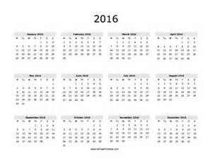 Free Printable 2016 Yearly Calendar | all boards | Pinterest ...