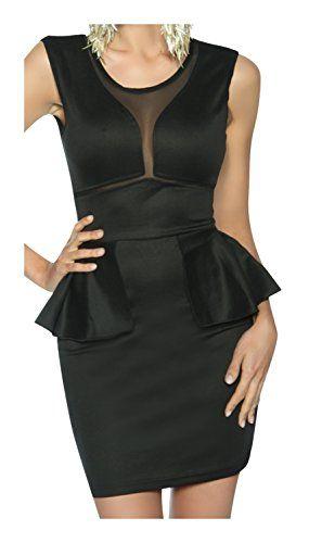 Cocktail-Kleid mit Netzeinsatz von luxury & good Dessous XL