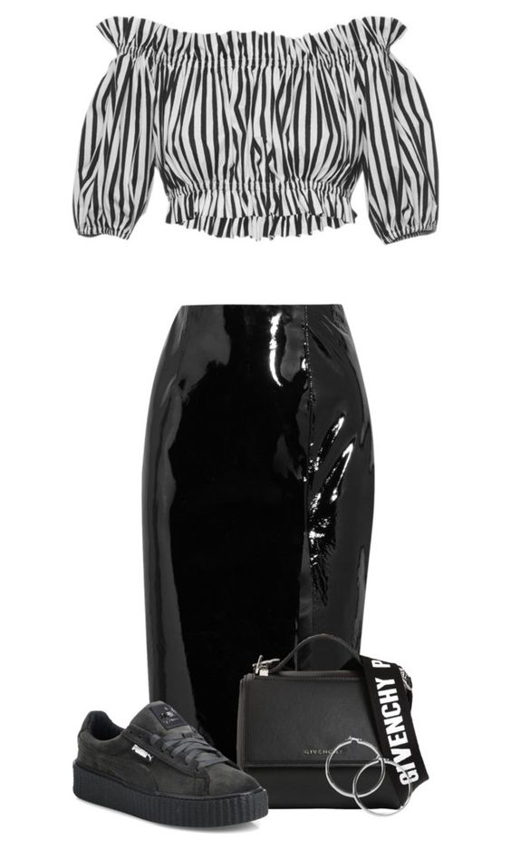 """""""Cropped Top"""" by kydajenner ❤ liked on Polyvore featuring Dolce&Gabbana, Topshop Unique, Givenchy and Puma"""