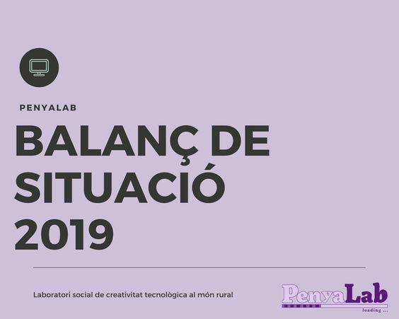 Balanç de situació – Exercici 2019