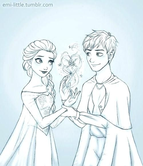 Elsa And Jack Frost Coloring Pages Jelsa Jack Frost Jack Frost And Elsa