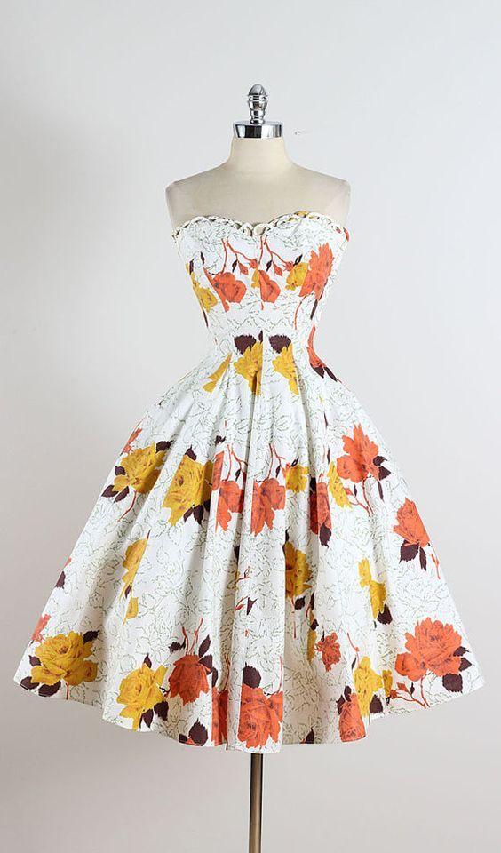 Vintage 1950s dresses, Vintage dresses