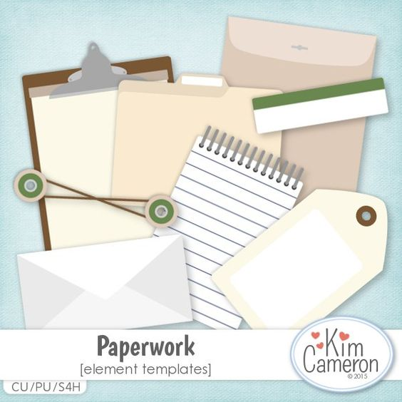 Paperwork Templates by Kim Cameron