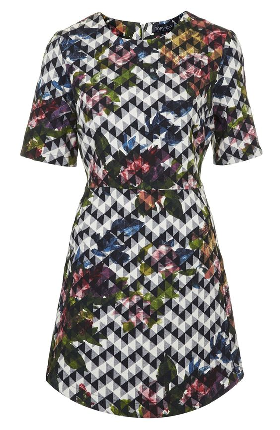 Topshop floral a-line dress. So flattering!