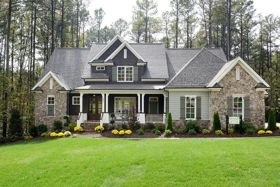 The Waldon Pond Craftsman elevation built by Homes by Dickerson in Raleigh, NC