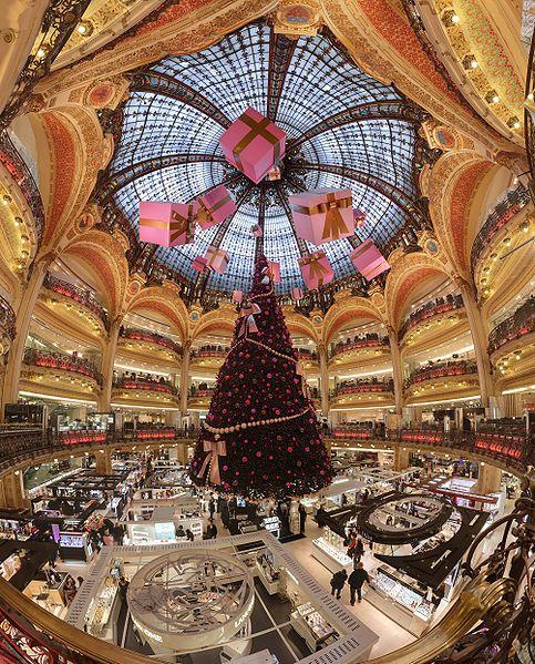 Galleries Lafayette during Christmas, Paris