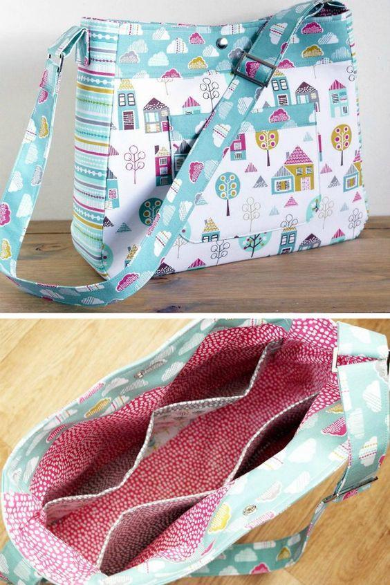 diaper bag pattern petite street nappy bag sewing pattern pn803 by susieddesigns bags diaper. Black Bedroom Furniture Sets. Home Design Ideas