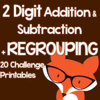 2-Digit Addition and Subtraction Regrouping 25 NO PREP Enrichment ...