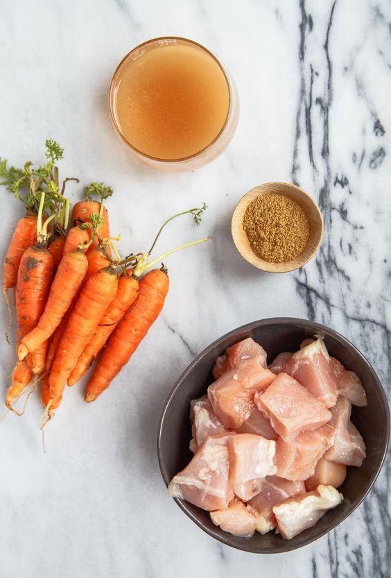 Baby food recipe chicken carrots