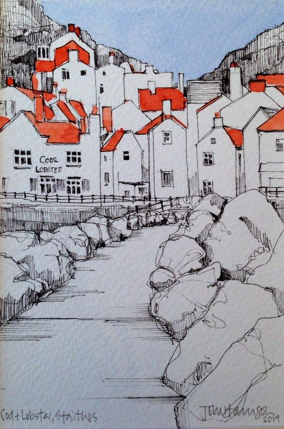 @DrawnYorkshire #DrawingAugust day 31-last day! @StaithesFest @coastmag…