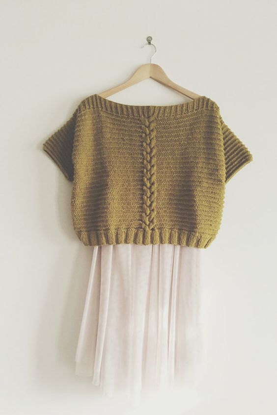KNIT PATTERN in english and french - Jumper Betty Yellow ...