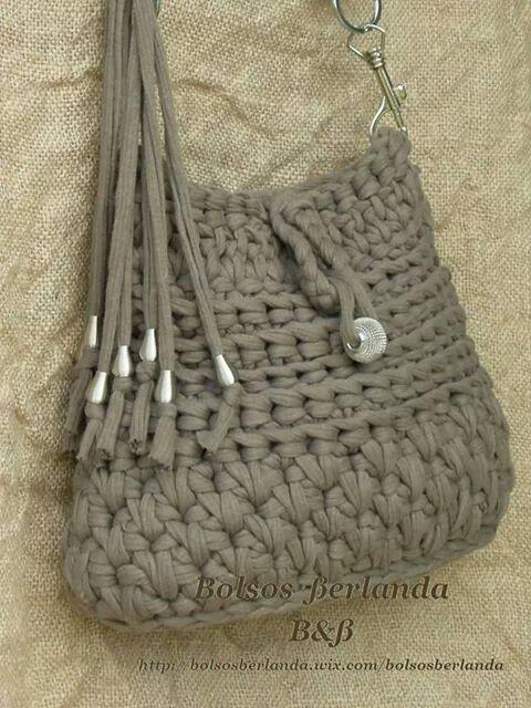 Bolso de trapillo berlanda bolsos pinterest trapillo for Bolsos de crochet de trapillo