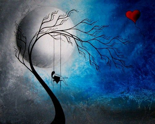 Heartache and Poetry 72 - Original Fantasy Tree Painting by Jaime ...