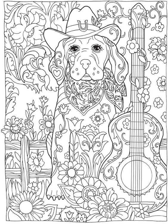 Welcome to Dover Publications, Creative Haven Dazzling Dogs Coloring Book, Marjorie Sarnat, 1: