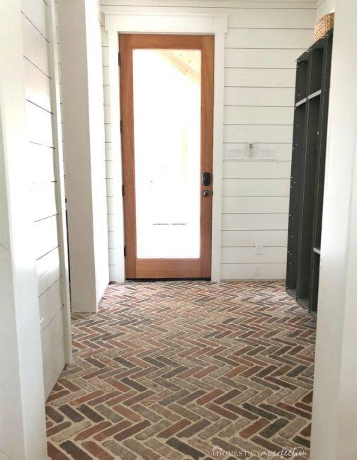 Herringbone Brick Paver Floor Brick Flooring Brick Tile Floor Brick Tiles